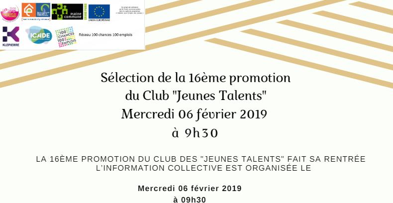 "Club ""Jeunes Talents"""